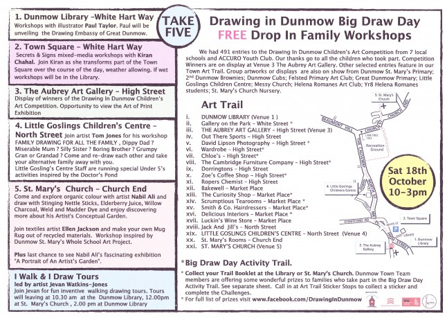 Drawing In Dunmow Big Draw Day Events